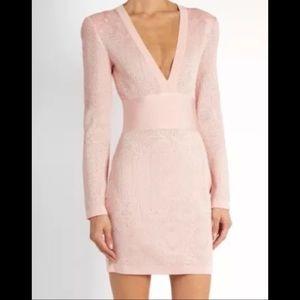 Balmain V-Neck Lace-Knit Dress BRAND NEW